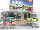 GREENLIGHT GREEN MACHINE 2019 FORD F350 DUALLY 1992 MUSTANG DRAG MIDNIGHT DRAG a