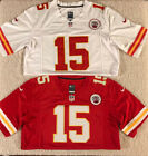 Patrick Mahomes Kansas City Chiefs 15 Super Bowl MENS Sewn White or Red Jersey