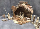 WOODEN NATIVITY SET FIGURES HANDCARVED