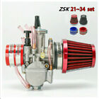 PWK 34mm Carburetor for 250cc 300cc Engine + Air Filter + Adapter Interface