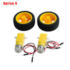 Smart Auto Car Robot Tire Wheel With Dc 3-6v Gearbox Motor For Arduino Plastic