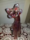 FENTON SUNKIST IRRIDIZED IRRIDESCENT CARNIVAL GLASS ALLEY CAT 11