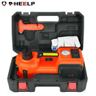 Car Jack Lift 12V DC 5 Ton Electric Hydraulic Floor Jack Tire Inflator Pump Tool