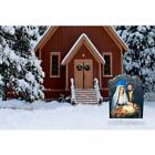 Nativity Christmas Yard Sign Outdoor Use Decoration With Stake