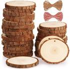30 Pcs Natural Wood Slices DIY Craft Wood Kit Unfinished Predrilled with Hole