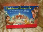 Vintage Christmas Manger Set No743 Cardboard Nativity Set Complete