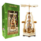 German Christmas Carousel Pyramid windmill wood Nativity Scene 22 in Decoration