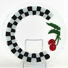 Peggy Karr CHECKERBOARD FRUIT CHERRY 775 Round Salad Plate Fused Glass
