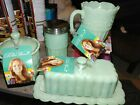 Pioneer Woman BUTTER DISH JADE MILK GLASS Sugar Bowl Spice Creamer New