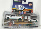 GREENLIGHT GREEN MACHINE 2019 FORD F350 DUALLY 1992 MUSTANG DRAG MIDNIGHT DRAGS