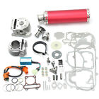 100cc 50mm Chinese Scooter Part Big Bore Kit Red Exhaust 139QB 1P39QMB GY6 50cc