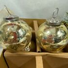 Kugel Vintage Style Gold Blown MercuryGlass Ball Ornaments SET 6 New Box