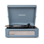 Blue Record Player Turntable Vintage Inspired Bluetooth for Digital Music