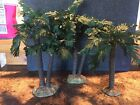 3 Fontanini Palm Trees Multi Trunk 5 Heirloom Christmas Nativity 1996 Signed