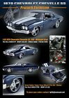 ACME 118 1970 CHEVELLE SS396 MIDNIGHT BLUE EXCLUSIVE 180 PIECES IN STOCK