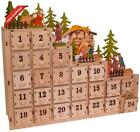 Kurt S Adler 13 Inch Battery Operated Light Up Nativity Scene Advent Calendar