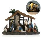 Nativity Figurine Set Christmas Nativity Jesus Manger Set OULII Resin