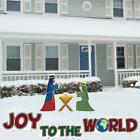 Joy to the World and Nativity Christmas Lawn Decorations  Set of 6