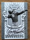 2011 SPORTKINGS PAUL HORNUNG AUTOGRAPH CARD Silver Version GREEN BAY PACKERS
