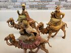 Vintage Fontanini Italy Nativity 3 Piece Kings Magi Wise Men Riding Camels 65