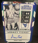 2020 21 Panini Contenders Jerry West Auto 44 Legacy Die-Cut Ticket Autograph