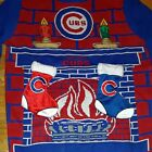 Chicago Cubs Ugly Christmas Sweater 3D Fireplace Stockings MLB SZ S NWT NEW