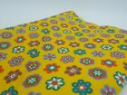 Vintage Concord Fabric Flower Power MOD 1960s 1970s yellow red blue 45 x 8 ft