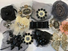 RHINESTONE BEADED SEQUIN TULLE BRIDAL APPLIQUES LOT OF 8 ASSORTMENTS VARY