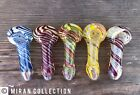 WHOLESALE OFFER 20piece 3Rim multicolor tobacco hand made glass pipe spoon