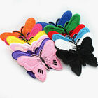 Pack of 100 PCS Embroidered Butterfly Applique Iron On Sew On Patch Clothing bad