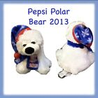 POLAR BEAR  PEPSI COLA BOYD  CHRISTMAS COLLECTORS PLUSH 2013 White Blue GUC