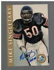 2003 RON MIX HALL OF FAME GOLD MIKE SINGLETARY AUTOGRAPH AUTO INSCRIBED HOF 98