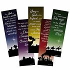 Assorted Color Christmas Silhouette Nativity Bookmark with Bible Verse 6 Inch