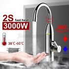 3000W 360 Electric Faucet Tap Instant Hot Water Heater Home Bathroom Kitche