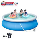 10ft X 30in Swimming Pool Inflatable For Adults Family Easy Set Blue Outdoor New