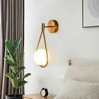 Art Decor Modern Gold Led Wall Lamp Glass Wall Sconce Light Fixtures f Bedroom