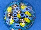 Lovely Shawn Messenger Paperweight Sphere Multi Millefiori Canes signed1 7 8