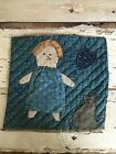 EARLY PRIMITIVE PRAIRIE FOLKY OLD BLUE CALICO HOMESPUN PAD