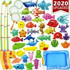CozyBomB Magnetic Fishing Toys Game Set for Kids for Bath Time Pool Party with