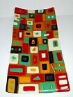 Fused Studio Art Glass Platter Tray Dos Sirenas Rectangle Geometric Contemporary