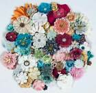 Prima  HUGE LOT DIMENSIONAL MULBERRY  FABRIC FLOWERS  75+ Flowers  Lot 38