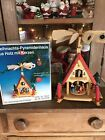 Vtg German Wood Christmas Pyramid House Candles W Box Carousel Nativity