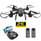 DEERC D50 Drone 2K UHD Camera FPV Live Video Quadcopter for Adults 2 Batteries