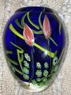 Vintage Murano Art Glass Hand Blown Vase With Beautiful Tulips Details 7