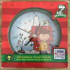 Peanuts Charlie Brown Christmas Holiday Clock plays a carol each hour NEW