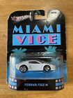 Hot Wheels Miami Vice Ferrari F512 M White Retro Entertainment 2013 Real Riders