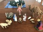 Mixed Lot Of Vintage Nativity Figures 1960s