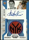 2010-11 Playoff Contenders Patches #196 ANDY RAUTINS SP Auto - NEW YORK KNICKS
