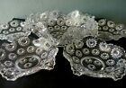 STARRY NIGHT MANY STARS ANTIQUE EAPG GLASS 7 PIECE BERRY BOWL SERVING SET