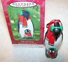 HALLMARK KEEPSAKE CHRISTMAS ORNAMENT 2001 1ST IN SAFE AND SNUG SERIES PENGUINS B